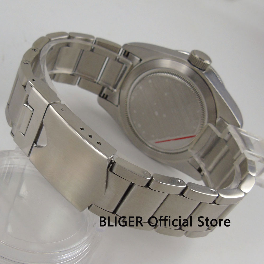 BLIGER Watch Band 22mm Solid 316L Stainless Steel Bracelet Strap Fit For 41MM SUB Automatic Movement