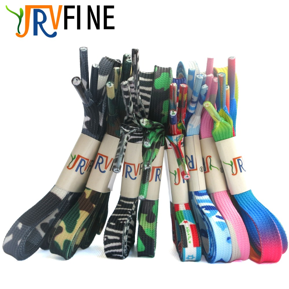 YJRVFINE 10 Pair Flat Rainbow Gradient Shoelaces Flag Shoe Laces Zebra Stripes Shoes Lace Camouflage Rope(Tell me Your Length!)