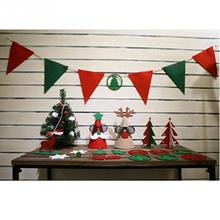 Suits Merry Christmas Decorations Set Banner Xmas Tree Party Christmas Decorations