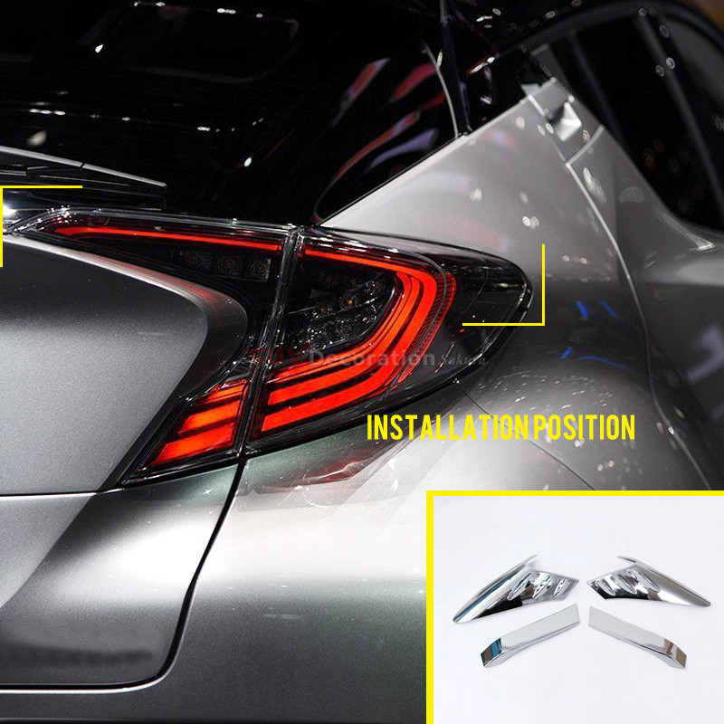 Roof Racks & Boxes For Toyota Rav4 2016-2017 Car-styling Accessories Exterior Tail Rear Light Lamp Cover Trim 4pcs