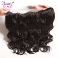 Brazilian Virgin Hair Body Wave 13x4 Ear To Ear Pre Plucked Lace Frontal Closure With Baby