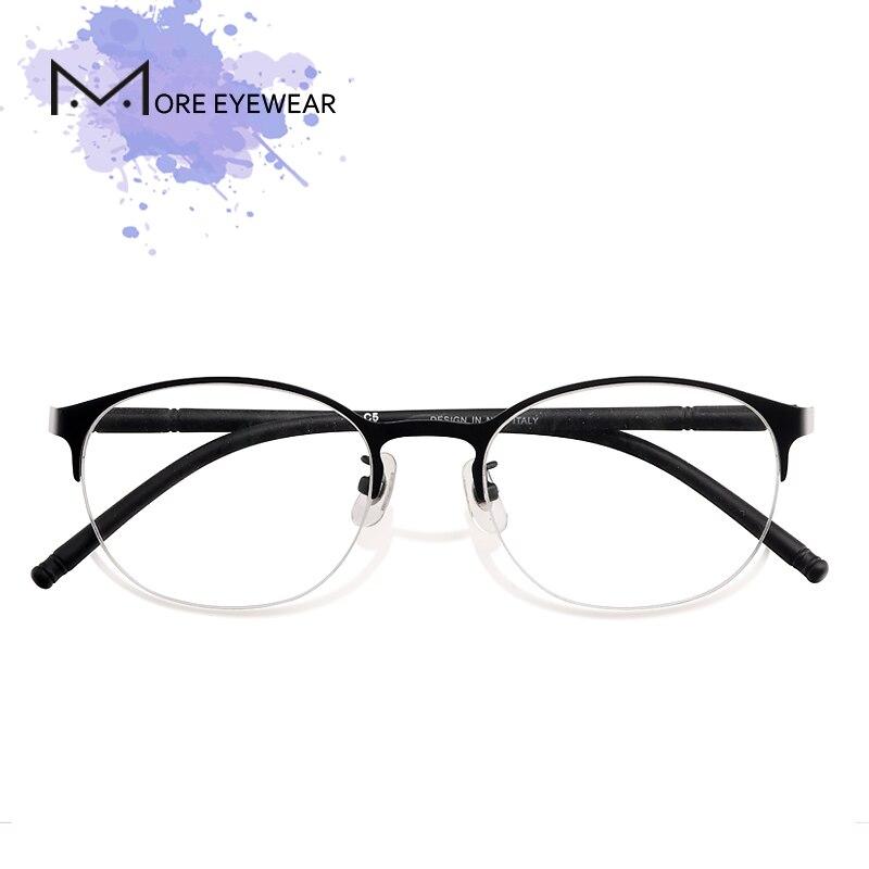 Rosa Runde Frauen pink Neue Mit 66027 Titan Optische Rahmen Brillen Mode Objektiv Brille Weiblich Blue 76vvRtxq