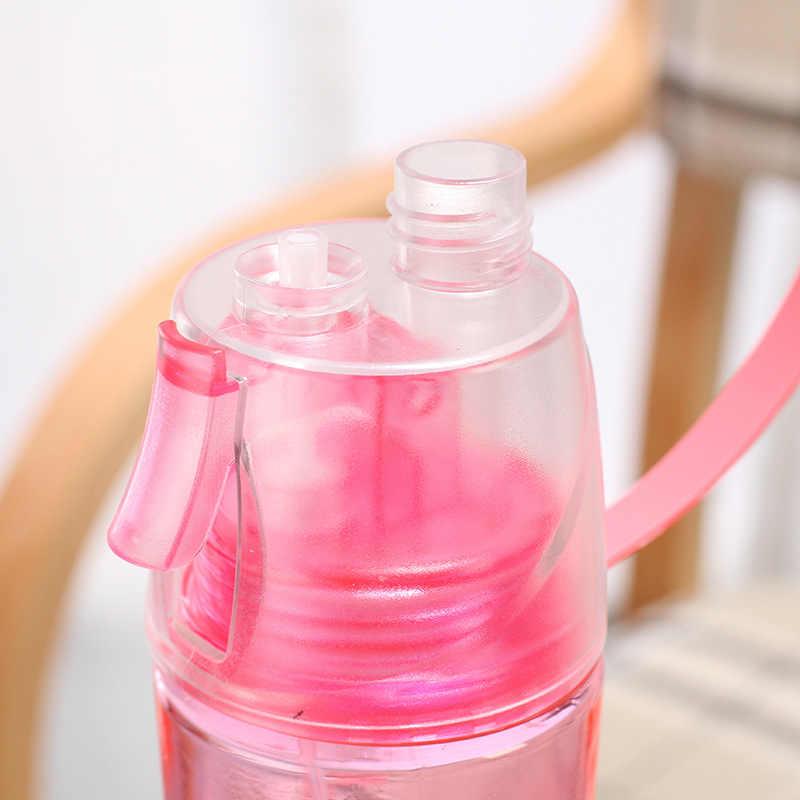الإبداعية البلاستيك رذاذ زجاجة كرستالية لمضخة المياه الرياضة في الهواء الطلق البروتين شاكر بلدي شرب Bottel الصيف الترطيب التبريد