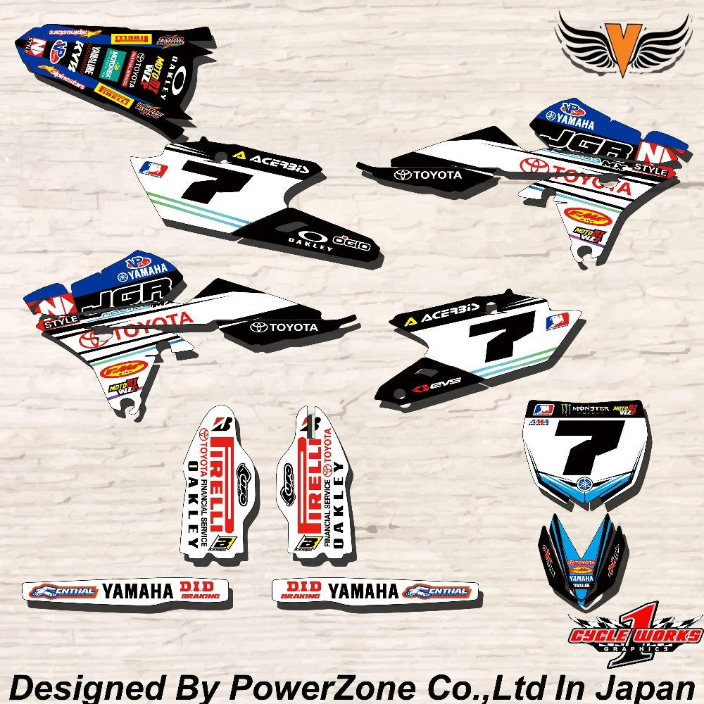 Bike stickers design online - Wr Yz Yzf 125 250 400 450 Team Graphics Backgrounds Decals Stickers Jgr Motor Cross Motorcycle