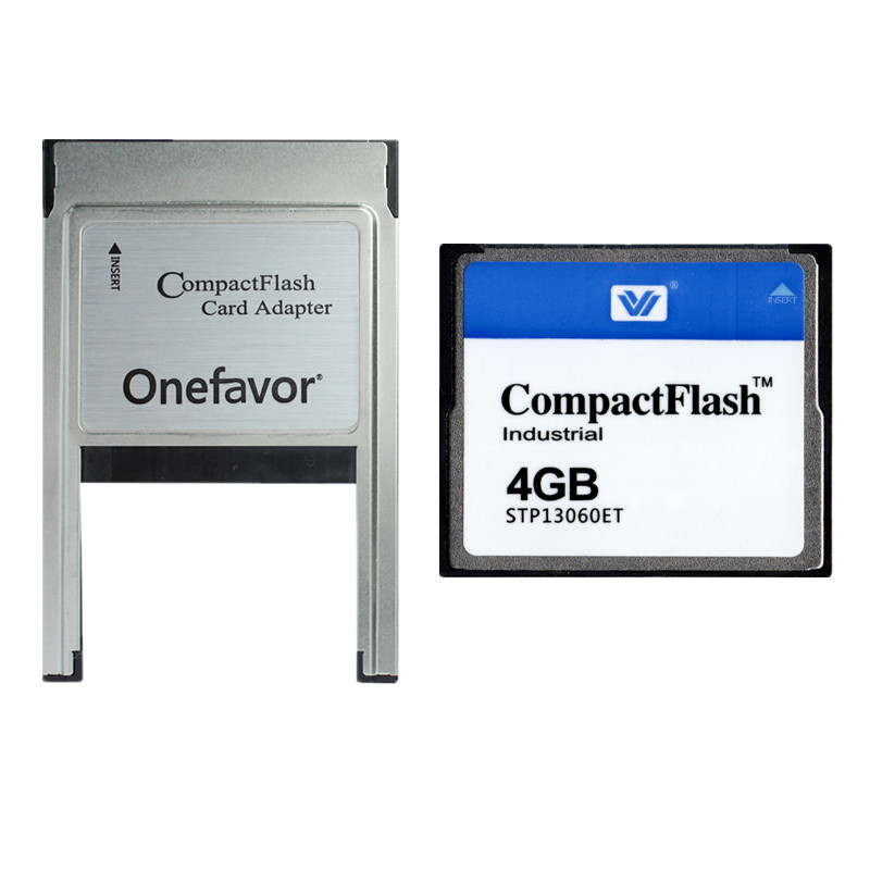 10PCS/LOT 128MB 256MB 512MB 1GB 2GB 4GB Compact Flash Card Industrial CF Memory card With PCMCIA adapter Type II & Type I