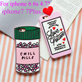 For iphone 6 Case love potion chill pills 3D Cartoon Soft Silicone Case Cover For iphone 6 6s 6/6s Plus 7 7Plus