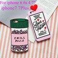 Para iphone 6 case poção de amor pílulas chill 3d dos desenhos animados suave silicone case capa para iphone 6 6 s 6/6 s plus 7 7 plus