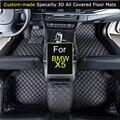 Esteiras do Assoalho do carro para BMW X5 E53 E70 F15 Car styling Pé Tapetes Tapetes 3D All-coberto Preto À Prova D' Água marrom Bege