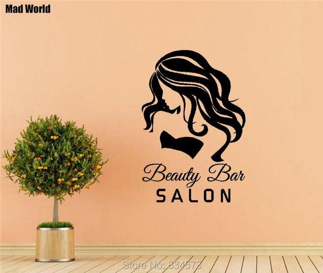 Mad World Gilr WOMAN BEAUTY Bar SALON Wall Art Stickers Wall Decal ...