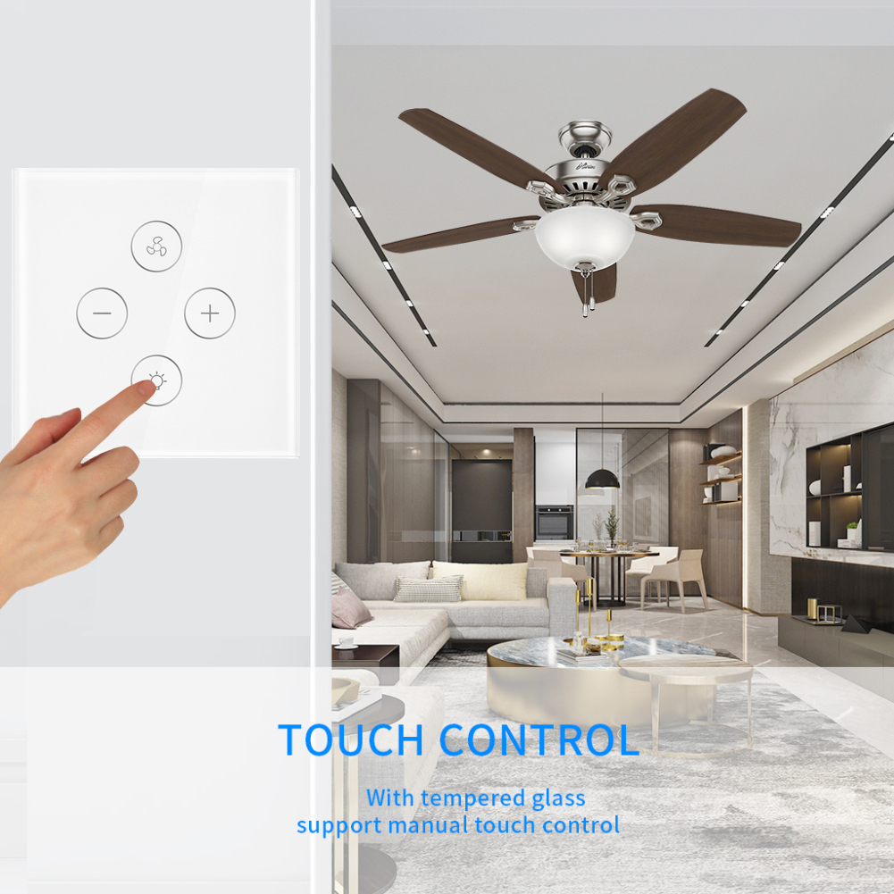Image 3 - EU Plug Smart WiFi switch for Fan light Compatible with Alexa Google Home Smart Life App Control No Hub Required-in Smart Remote Control from Consumer Electronics