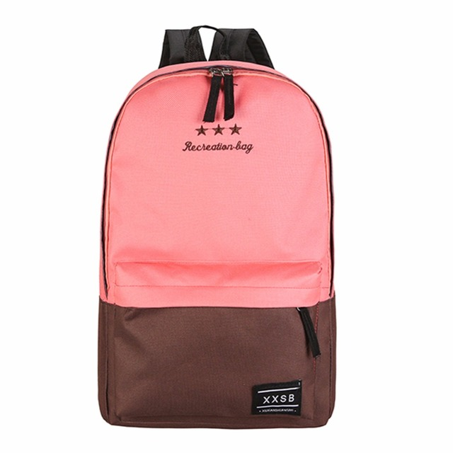 159a191f305d New Arriving Women Polyester Fiber Backpack Preppy Style Teenagers School  Bags Girls Laptop Travel Patchwork Backpack