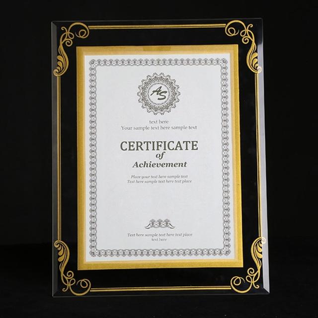 2 Unitspack Crystal Glass Document Frame Certification Frame