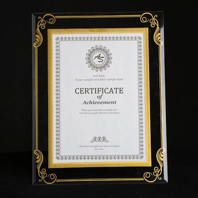 2 unitspack crystal glass document frame certification frame high school - Document Frame