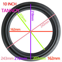 TANNOY 10 INCH Woofer Bass Speaker Repair Parts Accessories Rubber Surround Edge Folding Sponge Side Ring Circle Subwoofer 2 PCS