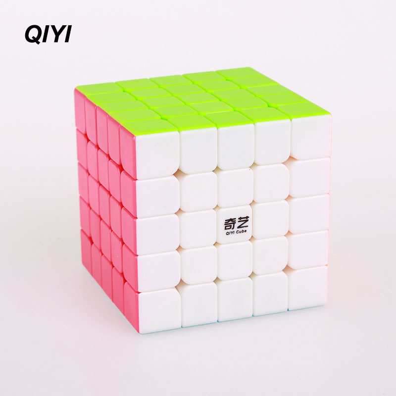QIYI 5x5x5 Speed Magic Cube Sticker less Puzzle professional Fidget cube magico education anti stress Toys for children цены