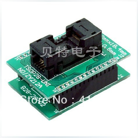 Block TSOP28 ucos dedicated IC, ZY212A burning test socket adapter ic qfp32 programming block sa636 block burning test socket adapter convert