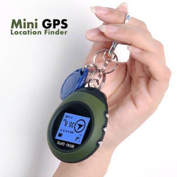 Mini traqueur de localisation Rechargeable d'usb de Navigation de GPS tenu dans la main de trousseau avec la boussole pour l'escalade extérieure de voyage universelle