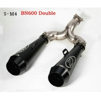 350mm 51mm motorcycle muffler silencer tubo de escape for Benelli 600 bn600 bj600 pcx scooter exhaust