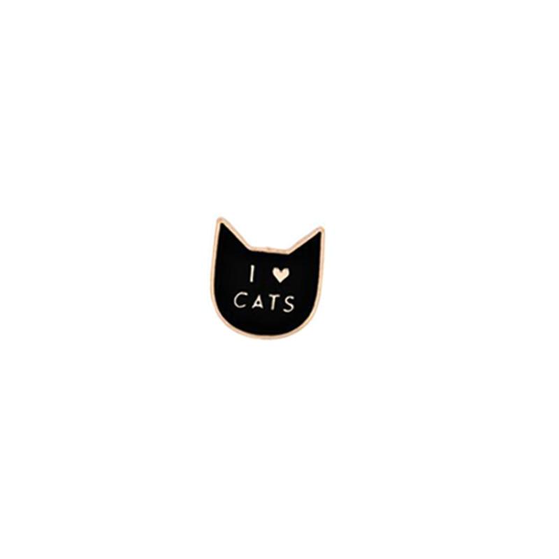 Kawaii Cartoon Animal Brooch Panda Cat Bear Enamel Pins Creative Black Apple Women Jackets Lapel Pin