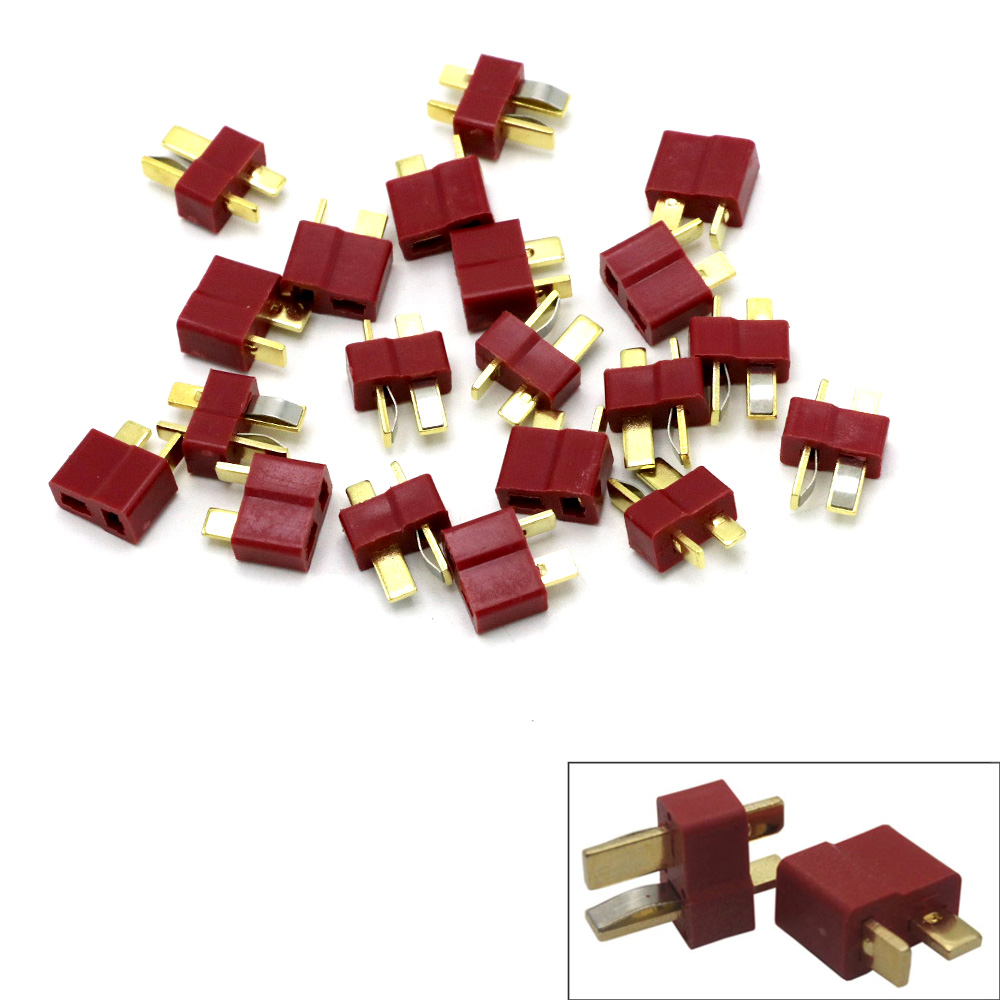 100Pcs/lot T Plug Deans Connectors Set For RC LiPo Battery Helicopter Male/Female Terminals Connectors Assortment Kit