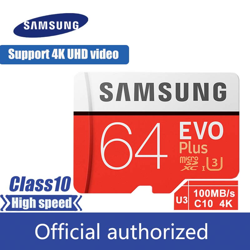 100% original Samsung micro sd 128gb carte mémoire flash 100 mo/s 32gb 64gb cartao de memoria classe 10 UHS-I U3 4K 256gb carte TF