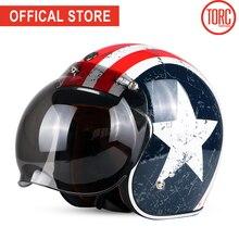 TORC moto rcycle casco vintage open face bubble visiera moto rbike moto cross jet retro del casco capacete DOT T50 vespa moto casco