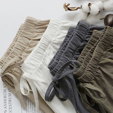 2020 Cotton Linen Shorts Women Summer Shorts Trousers Feminino Womens High Elastic Wasit Home Loose Casual Shorts With Pockets