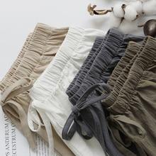 2020 Katoen Linnen Shorts Vrouwen Zomer Shorts Broek Feminino Vrouwen Hoge Elastische Wasit Thuis Losse Casual Shorts Met Zakken