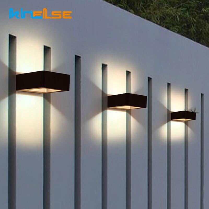 LED Wall Light Outdoor Waterproof Porch Light Garden Lamp Modern Home Indoor Wall Lamps Living Room Corridor Patio Door Lighting