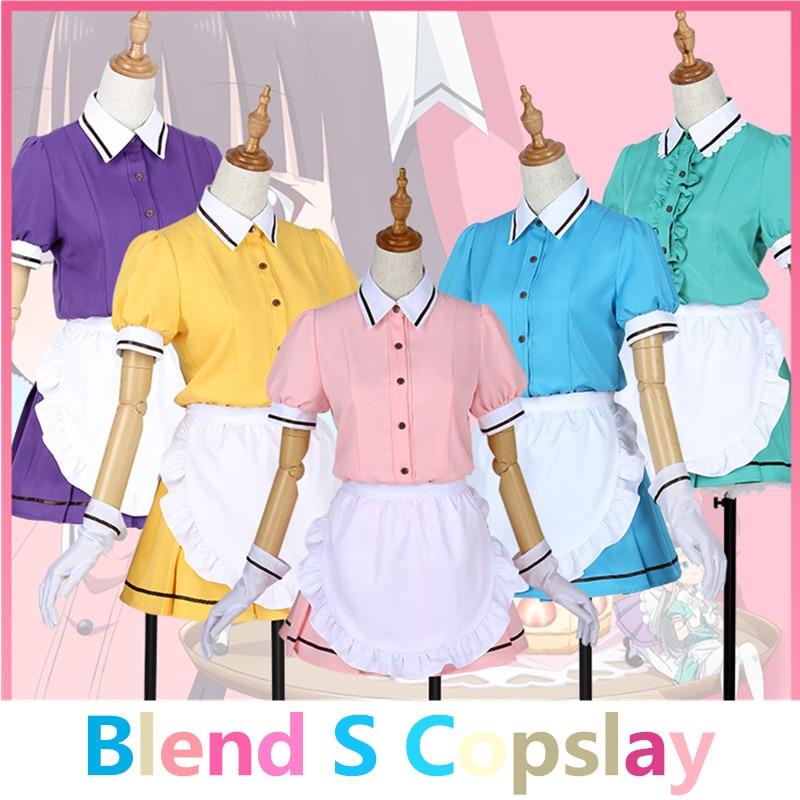 Anime Blend S Maid Sakuranomiya Maika Hinata Kaho Dress Cosplay Costume Full Set