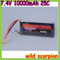 Free shipping wild scorpion 100% Brand 7.4V 10000mAh 2S 25C Li-po Battery energy sources Multi-rotor helicopter
