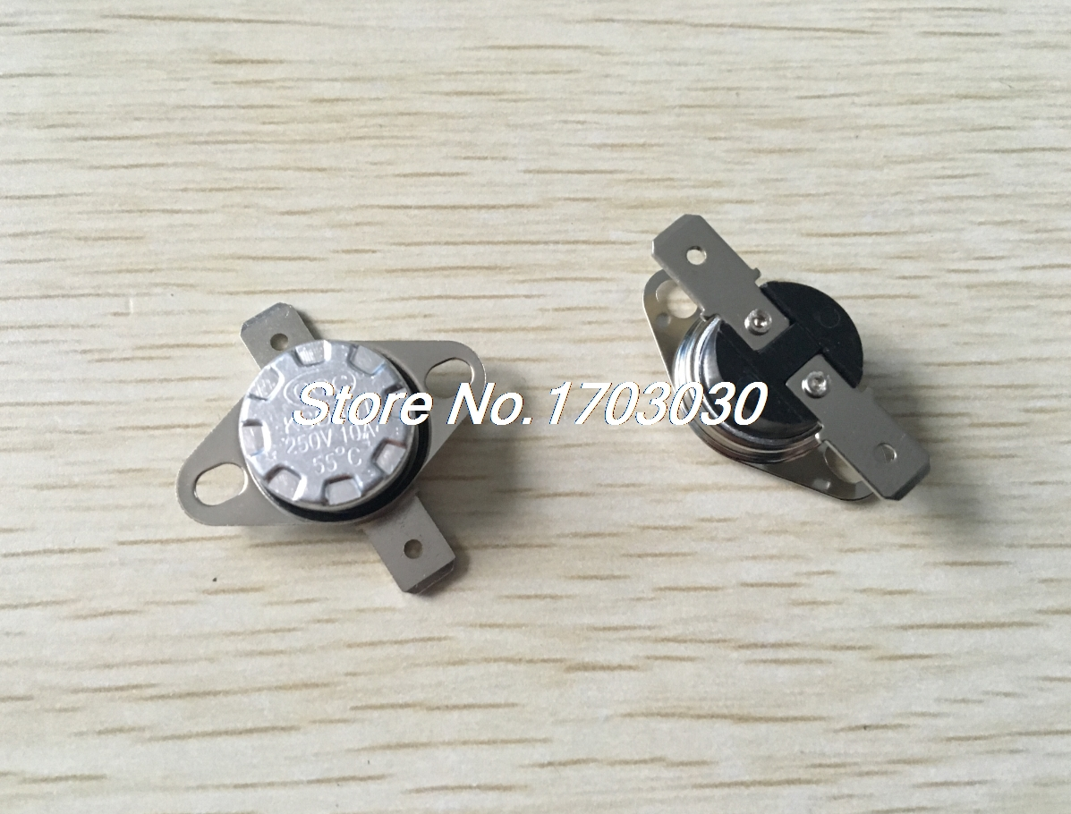 50 pcs Temperature Switch Thermostat 55C N.O. KSD301 Normal Open ksd301 180 degrees 250v 10a ceramic thermostat thermal protector ksd temperature control switch normally closed buckle