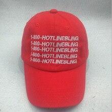 Hot Sale 1 800 BLING Strapback Sport Cap Letter Drake Hotline Bling Pink Hat 6 Panel