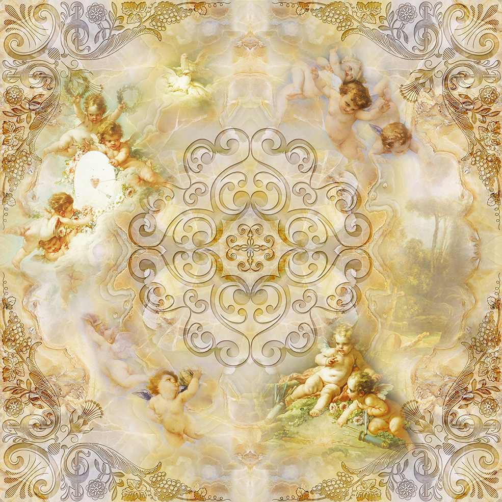 Custom Wall Mural Wallpaper European Style Little Angel Ceiling Fresco Living Room Bedroom Ceiling Murals Wallpaper For Walls 3D