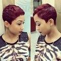 Hot Bob Peruvian Short Straight Hair Weave With Free Closure Red Virgin Human Hair 2pcs/lot 27 Pieces Short Hair Weave Bundles