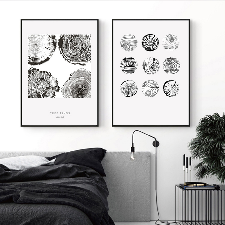 Sure Life Black And White Tree Rings Canvas Paintings Nordic Wall Diagram Quotes Art Poster Print Pop Pictures For Living Room Home Decoration In Painting Calligraphy