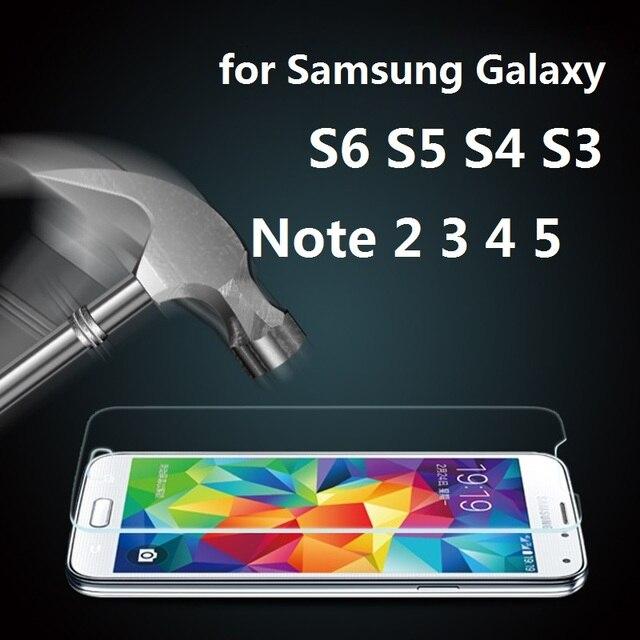 0.3mm 9 H Temperli Cam Samsung Galaxy S6 S7 S5 S4 S3 S2 Not 2 3 4 5 film Premium Ekran Koruyucu