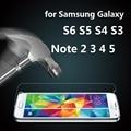 0.3mm 9 h vidrio templado para el samsung galaxy s6 s7 s5 s4 S3 S2 Nota 2 3 4 5 película Premium Protector de Pantalla