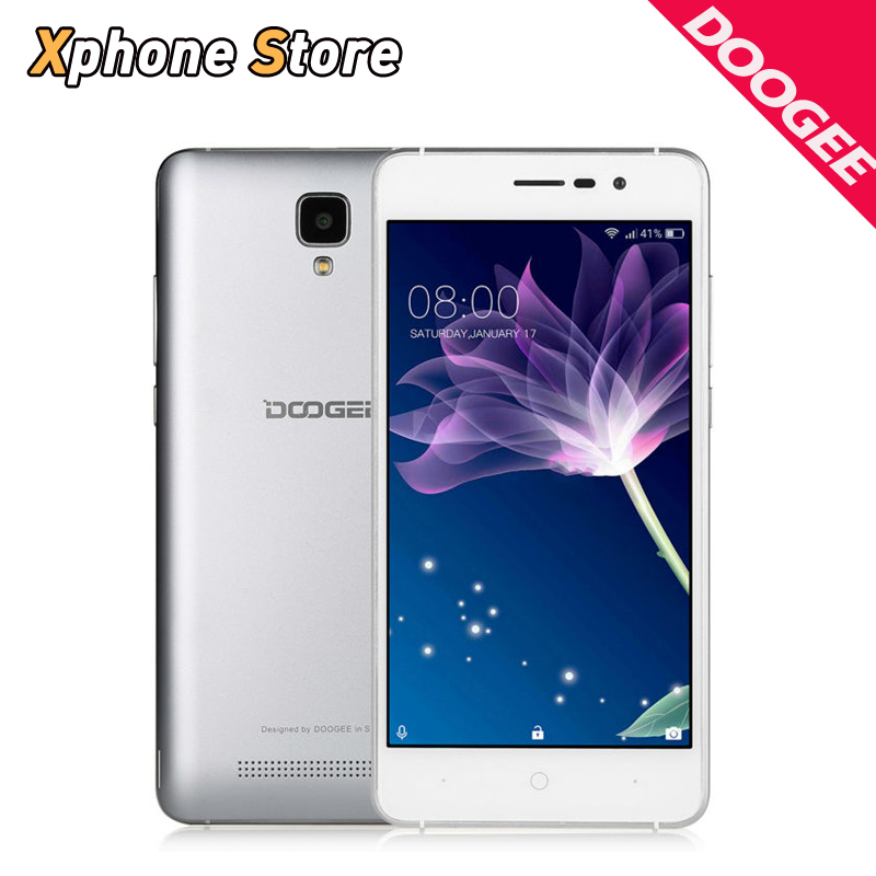Цена за Оригинал doogee x10 android 6.0 mt6570 dual core 5.0 дюймов 3 г WCDMA Смартфон 8 ГБ ROM 512 МБ ОПЕРАТИВНОЙ ПАМЯТИ Dual SIM WIFI GPS Мобильного телефон