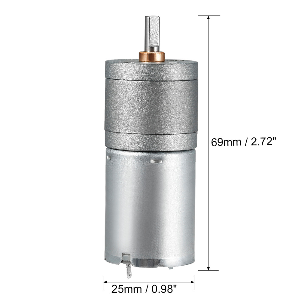 UXCELL Newest DC mini Gear Motor 24V 10mA 17RPM 4.2kg.cm Loading Torque High Temperature Resistance DIY Electrical Appliances-in DC Motor from Home Improvement