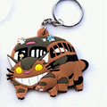 Anime My Neighboor Totoro Bus Car Toys Kawaii Cartoon Figures Totoro with Umbrella PVC Keychain Pendant Toys Doll Xmas Gift
