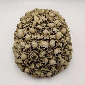 Image 4 - Silicone Mold Lots Horror Skull Halloween Cake Decorating Tools DIY Skull Candle Chocolate Gypsum Silicone Mold