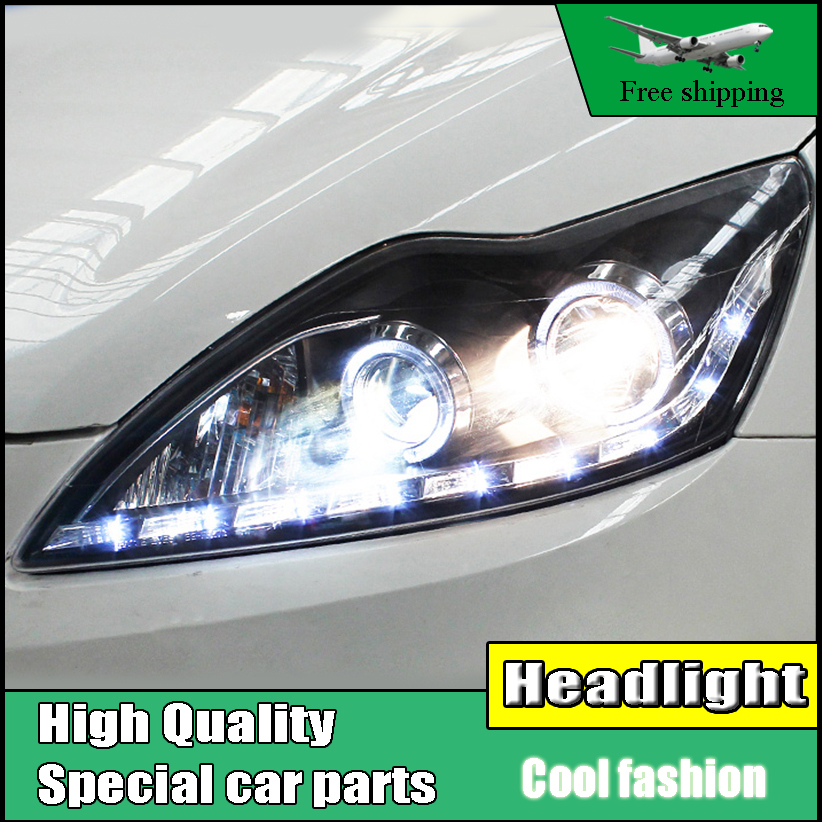 Car Styling Head Lamp For Ford Focus MK2 Headlights 2009-2013 LED Headlight DRL Bi Xenon Lens High Low Beam Parking Fog Lamp car styling led head lamp for ford focus2 headlights 2009 2012 focus led headlight turn signal drl h7 hid bi xenon lens low beam