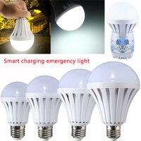 Inteligente led luz de emergência 5 w 7 9 12 lâmpada de emergência de carregamento inteligente lâmpada de emergência bateria recarregável lâmpada led