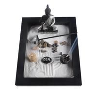 Elaborately Statue Buddha Zen Garden Sand Meditation Peaceful Relax Decor Set Spiritual Zen Garden Kit Decoration Set