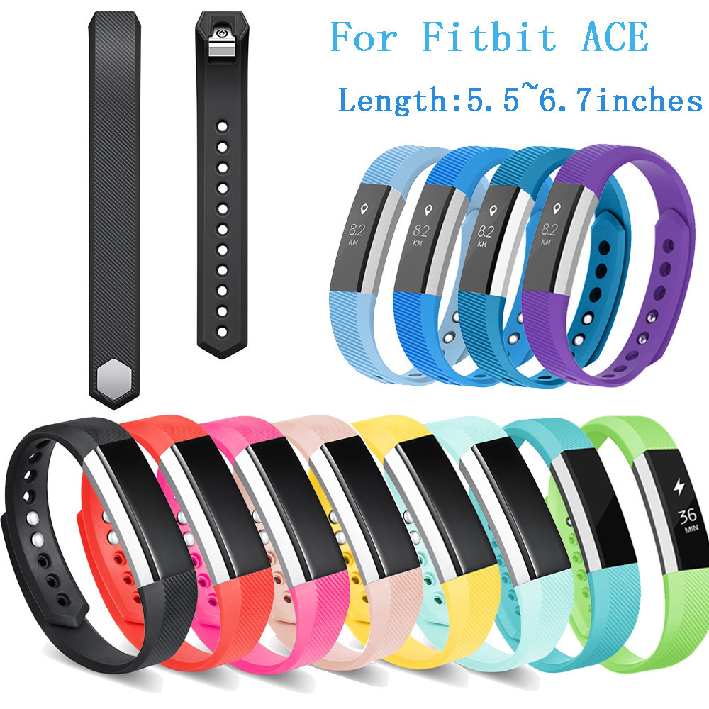Watch Strap S/L Size TPU Sports Replacement Band for Fitbit Ace Ultrathin Wristbands 5.5-6.7inch/6.7-8.1inch Correas de reloj