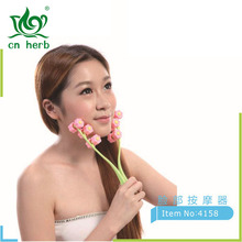 Cn Herb Thin Face Massage Roller 4158 Three-step Pattern Detector Facial Ministry Massager