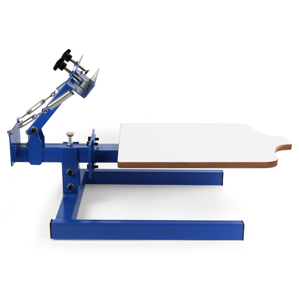 US Warehouse Stock Free Tax 1 Color 1 Station Silk Screen Printing Machine Pressing T-Shirt Print Cutting