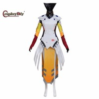 Cosplaydiy Angela Ziegler Cosplay Costume Mercy Outfit Adult Women Halloween Carnival Clothes Custom Made J10