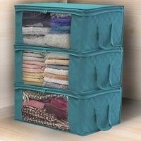 3Pcs Blanket Quilt clothes Closet Box Bags Home Foldable Moisture-proof Storage case Washable zipper household cabinet organizer